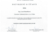 Certifikaty rok 2016